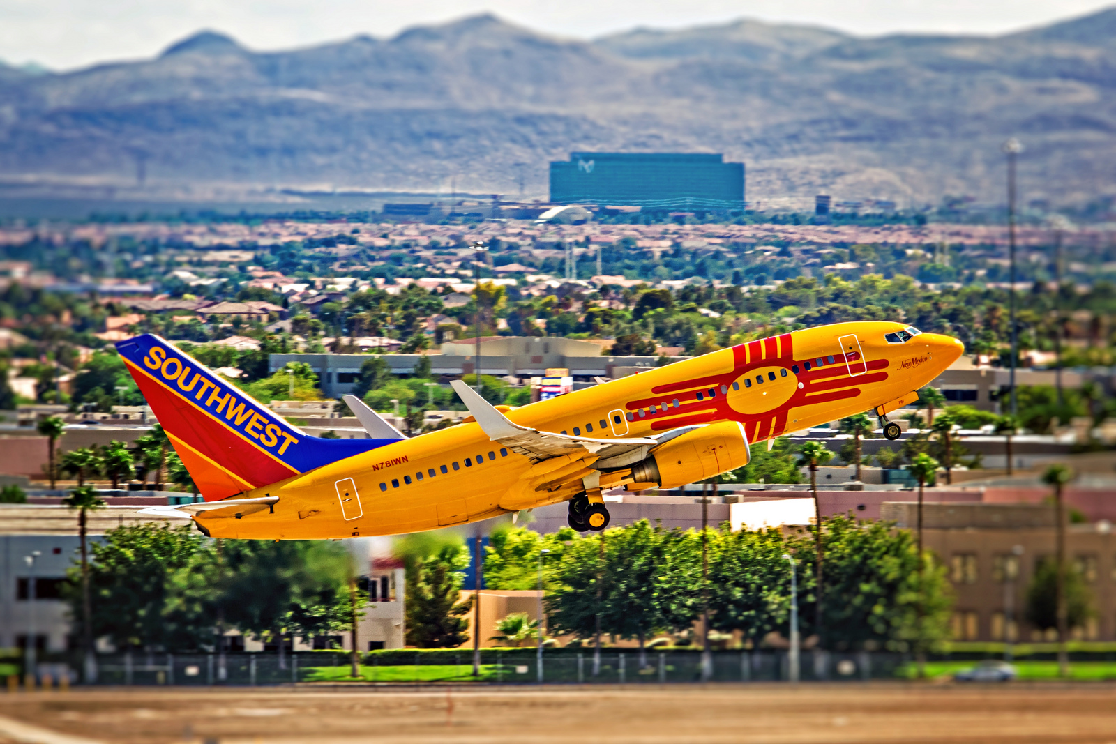 "Southwest Airlines' Flight #3391 departs for her home base of Dallas Love Field, but not before a ""Wright Amendment"" induced speed bump known as Midland, Texas."